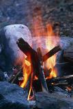 Campfire Fotografisk tryk af Alan Sirulnikoff