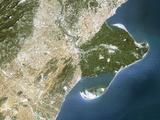 True-colour Satellite Image of the Ebro Delta Photographic Print by  PLANETOBSERVER