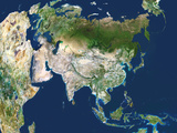 Asia, Satellite Image Premium Photographic Print by  PLANETOBSERVER