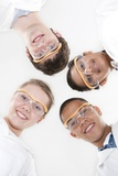 Pupils Wearing Safety Goggles Photographic Print by Science Photo Library