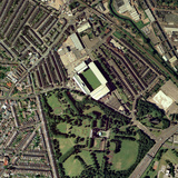 Aston Villa's Villa Park Stadium, Aerial Photographic Print by Getmapping Plc