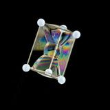 Soap Bubbles on a Triangular Prism Frame Photographic Print by Rapson Rapson