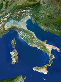 Italy, Satellite Image Photographic Print by  PLANETOBSERVER