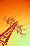 Electricity Power Lines Photographic Print by  PASIEKA
