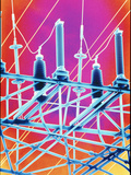 Computer Artwork of High-voltage Power Lines Posters by  PASIEKA