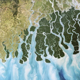 Ganges River Delta, India Photographic Print by  PLANETOBSERVER