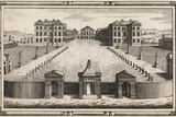 18th C Engraving of Foundling Hospital Prints by Middle Temple Library