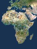 Africa, Satellite Image Fotografisk tryk af PLANETOBSERVER