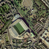 Chelsea's Stamford Bridge Stadium, Aerial Photographic Print by Getmapping Plc