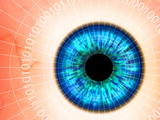 Biometric Eye Scan Print by  PASIEKA