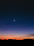 View of Venus And Jupiter At Conjunction Photographic Print by John Sanford