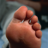 Healthy Toes And Sole of a Woman's Foot Photographic Print by Damien Lovegrove