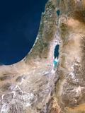 Israel, Satellite Image Fotografisk tryk af PLANETOBSERVER