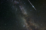 Perseid Meteor Shower, Meteor Track Photographic Print by Eckhard Slawik