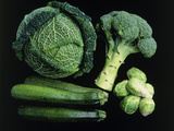 Green Vegetable Selection Premium Photographic Print by Damien Lovegrove