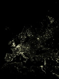 Europe At Night Photographic Print by  PLANETOBSERVER