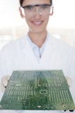 Circuit Board Manufacture Photographic Print by Science Photo Library