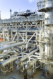 Oil Refinery Pipes Photographic Print by Paul Rapson