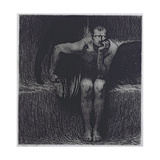 Lucifer Giclee Print by Franz Von Stuck