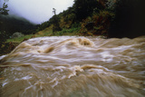 Flooded Stream Pouring Down Steep Slopes In Valley Photographic Print by Dr. Morley Read