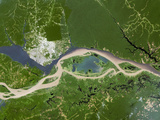 Manaus, Satellite Image Prints by  PLANETOBSERVER