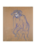 Aristide Bruant on a Bicycle, 1896 Lámina giclée por Henri de Toulouse-Lautrec