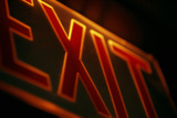 Exit Sign Photographic Print by Alan Sirulnikoff
