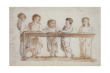Choirboys Giclee Print by Alexander Nasmyth