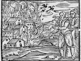 Witches Burning a Town, 17h Century Photographic Print by Middle Temple Library