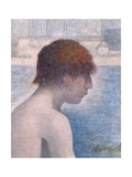 Bathers at Asnieres, 1884 (Detail) Giclee Print by Georges Seurat