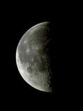 Optical Image of a Waning Half Moon Premium Photographic Print by John Sanford