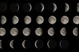 Phases de la lune Reproduction photographique par Eckhard Slawik