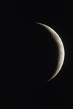 Optical Image of a Waxing Crescent Moon Photographic Print by John Sanford