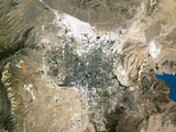 Las Vegas, Satellite Image Photographic Print by  PLANETOBSERVER