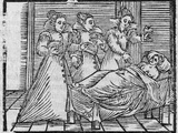 Witches Giving Potion To Woman, 17th Cent Photographic Print by Middle Temple Library