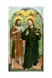 Christ and John the Baptist Giclee Print by Johann Koerbecke