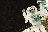 Astronaut Spacewalks To Repair Shuttle Telescope Posters by Science Photo Library
