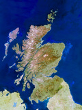 Satellite Image of Scotland Photographic Print by  PLANETOBSERVER