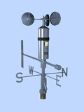 Anemometer And Wind Vane Photographic Print by Paul Rapson