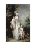 Mrs. Moody and Her Two Sons Giclee Print by Thomas Gainsborough