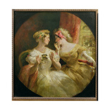 Ladies Gossiping at the Opera Giclee Print by Frederick Barnard