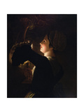 Grapes and Candlelight Giclee Print by Henry Robert Morland