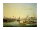 Bristol Harbour, 1836 Giclee Print by Joseph Walter