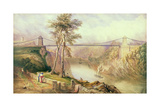View of the Avon Gorge with the Approved Design for the Clifton Suspension Bridge, 1831 Giclee Print by Samuel Jackson