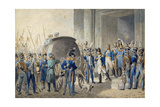 Departure of Napoleon (1769-1821) for Elba Giclee Print by John Augustus Atkinson