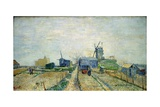 Vegetable Gardens and the Moulin De Blute-Fin on Montmartre, 1887 Giclee Print by Vincent van Gogh