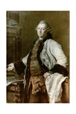 Portrait of Aleksandr Filippovich Kokorinov (1726-72) Architect, Director and First Rector of the… Giclee Print by Dmitri Grigor'evich Levitsky
