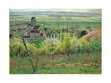 A Village Near Auvers, C.1885 Giclée-Druck von Victor Vignon