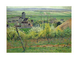 A Village Near Auvers, C.1885 Giclee Print by Victor Vignon