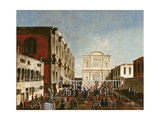 The Doge Visiting the Chiesa Di S. Rocco Giclee Print by Gabriele Bella
